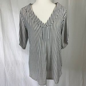 Perception concepts black and white striped top